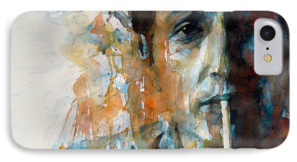 Hey Mr Tambourine Man @ Full Composition IPhone 7 Case by Paul Lovering