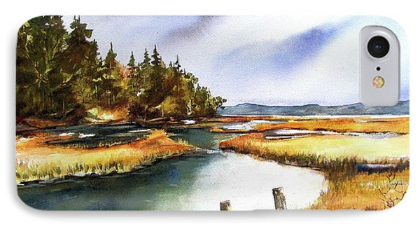 IPhone Case featuring the painting Heyer Pt   Vashon Wa by Marti Green