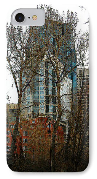 IPhone Case featuring the digital art Hi-rise Living  by Stuart Turnbull