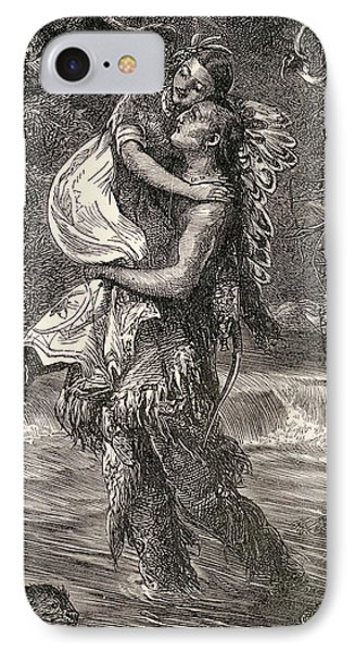 Hiawatha And Minnehaha Phone Case by Unknown