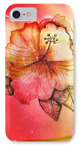 Hibiscus 16-01 IPhone Case by Maria Urso