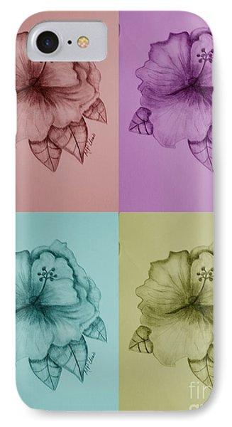 Hibiscus 16-02 IPhone Case by Maria Urso