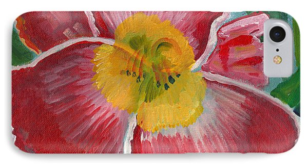 IPhone Case featuring the painting Hibiscus 3 by John Keaton