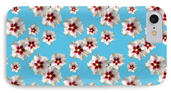 IPhone Case featuring the mixed media Hibiscus Flower Pattern by Christina Rollo