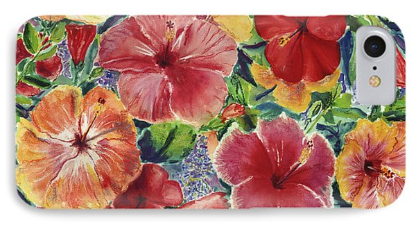 Hibiscus Impressions Phone Case by Patti Bruce - Printscapes