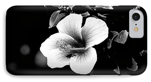 IPhone Case featuring the photograph Hibiscus In The Dark by Lori Seaman