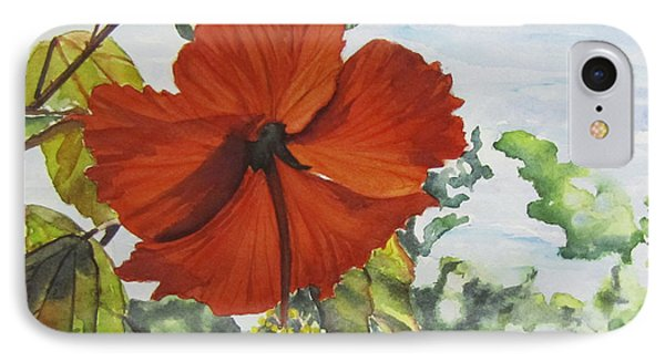 Hibiscus St Thomas IPhone Case by Carol Flagg