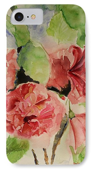 Hibiscus Stilllife In Impressionism Style IPhone Case by Geeta Biswas