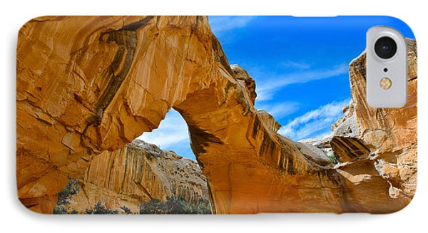 IPhone Case featuring the photograph Hickman Bridge Natural Arch - Capitol Reef National Park by Dany Lison