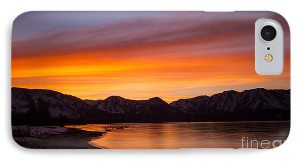 Hidden Beach Sunset Phone Case by Mitch Shindelbower