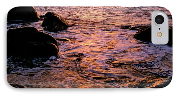 Hidden Cove Sunset Redwood National Park IPhone Case by Ed  Riche