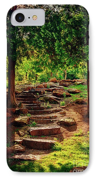 Hidden Path At Honor Heights Park IPhone Case by Tamyra Ayles