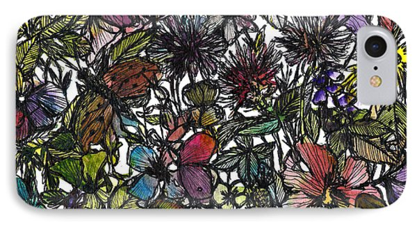 Hide And Seek In Wildflower Bushes Phone Case by Garima Srivastava