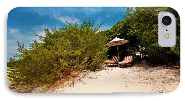 Hideaway. Maldivian Beach Phone Case by Jenny Rainbow