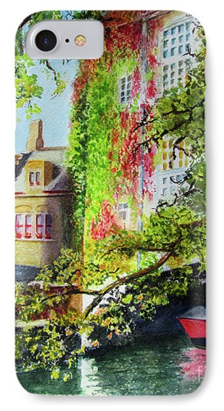 IPhone Case featuring the painting Hiding by Karen Fleschler