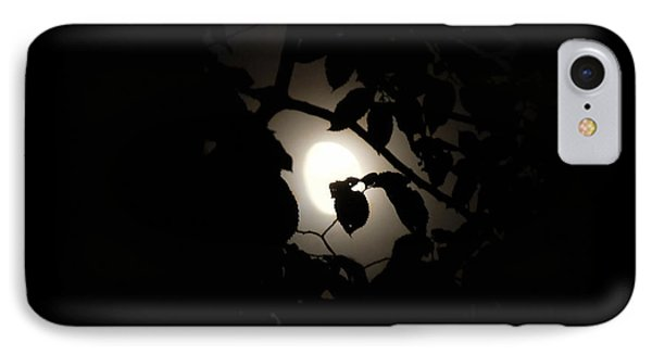 IPhone Case featuring the photograph Hiding - Leaves Over Moon by Menega Sabidussi