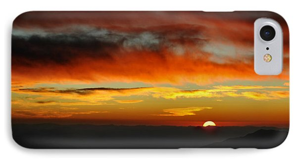 IPhone Case featuring the photograph High Altitude Fiery Sunset by Joe Bonita