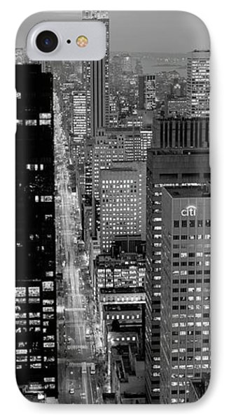 High Angle View Of A City, Fifth Avenue, Midtown Manhattan, New York City, New York State, Usa IPhone Case