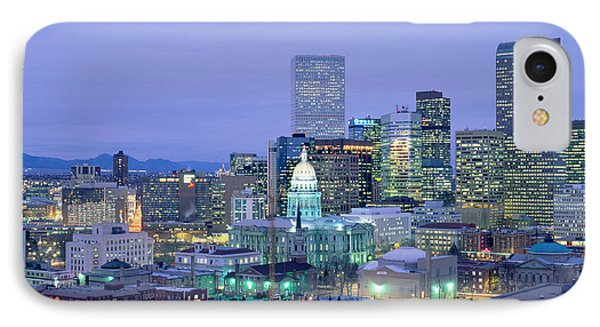 High Angle View Of The State Capitol IPhone Case by Panoramic Images