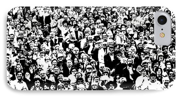 High Contrast Image Of Crowd, C.1970s IPhone Case