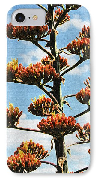 High Country Red Bud Agave IPhone Case