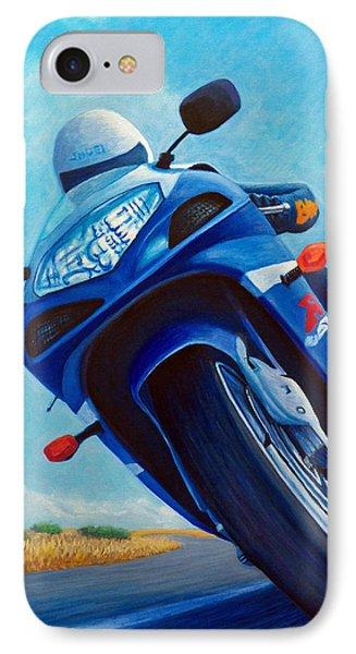 High Desert Pass - Suzuki Gsxr1000 IPhone 7 Case by Brian  Commerford