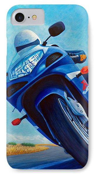 High Desert Pass - Suzuki Gsxr1000 IPhone 7 Case by Brian  Commerford