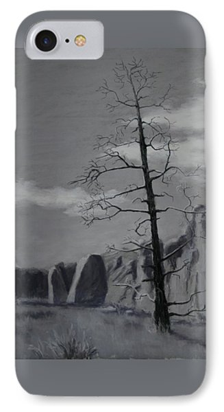 IPhone Case featuring the painting High Desert Skeleton by Nancy Jolley
