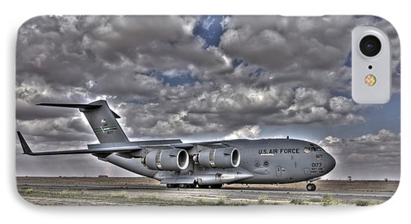 High Dynamic Range Image Of A C-17 IPhone Case by Terry Moore