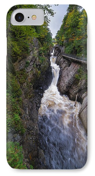 IPhone Case featuring the photograph High Falls Gorge Adirondacks by Mark Papke