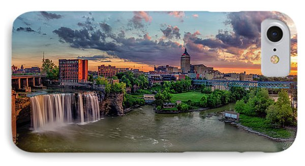 High Falls Panorama IPhone Case by Mark Papke