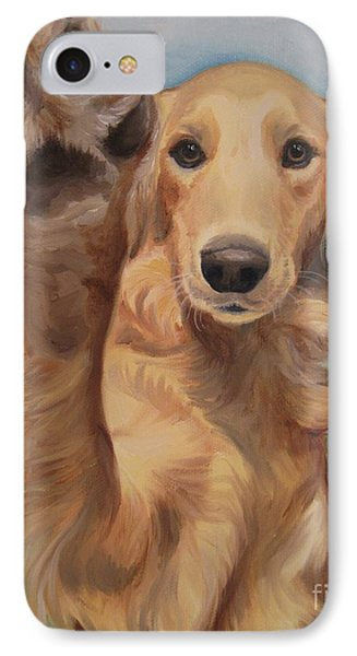 IPhone Case featuring the painting High Five by Jindra Noewi