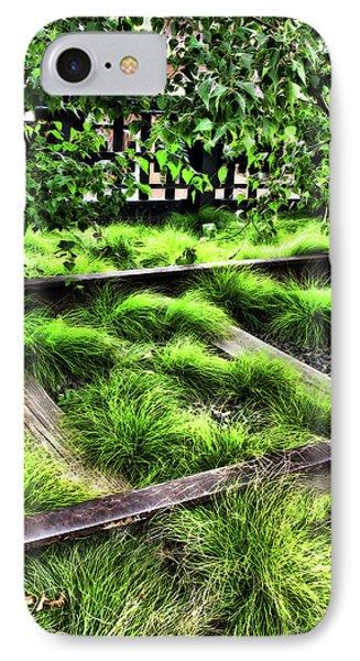 High Line Nyc Railroad Tracks IPhone Case by Joan  Minchak
