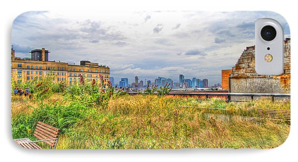 High Line On The Hudson Phone Case by Randy Aveille
