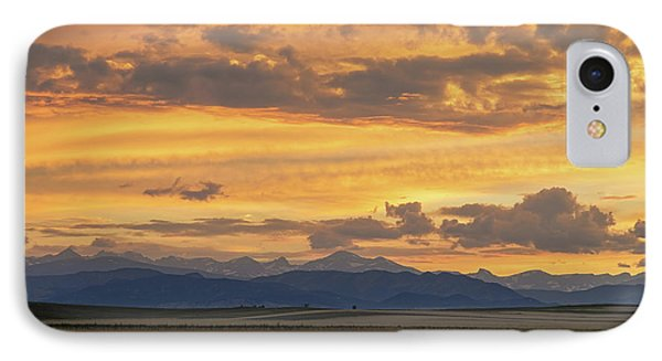 IPhone Case featuring the photograph High Plains Meet The Rocky Mountains At Sunset by James BO Insogna
