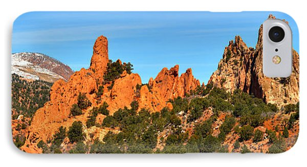 IPhone Case featuring the photograph High Point Panorama At Garden Of The Gods by Adam Jewell