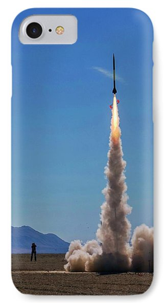 IPhone Case featuring the photograph High Power Rocket Certification Flight by Peter Thoeny