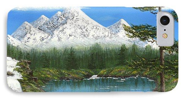 High Sierras Lake IPhone Case by Larysa Kalynovska