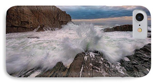 High Tide At Bald Head Cliff IPhone Case by Rick Berk