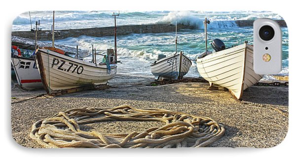 IPhone Case featuring the photograph High Tide In Sennen Cove Cornwall by Terri Waters