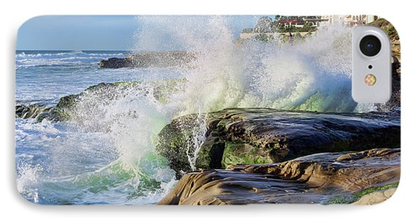 IPhone Case featuring the photograph High Tide On The Rocks by Eddie Yerkish