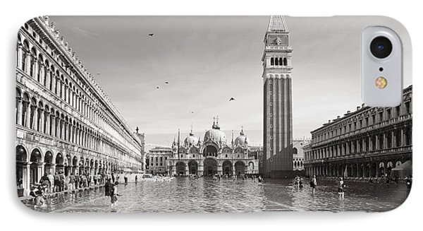 High Water In S.marco Square IPhone Case by Marco Missiaja