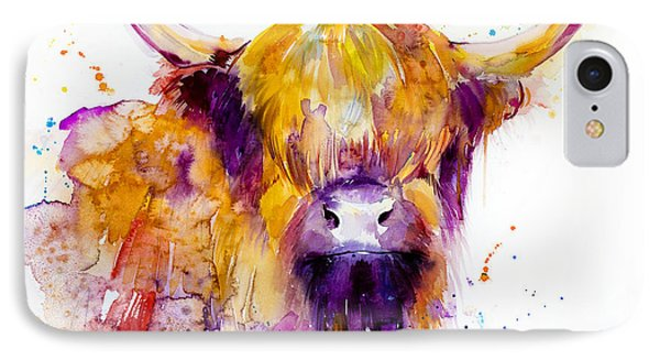 Highland Cow IPhone Case by Slavi Aladjova