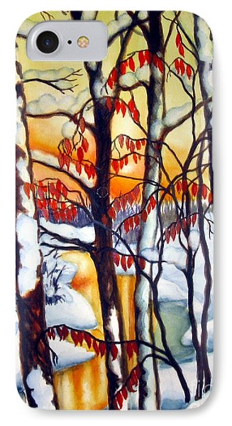 IPhone Case featuring the painting Highland Creek Sunset 1 by Inese Poga