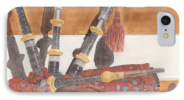 Highland Pipes Phone Case by Ken Powers