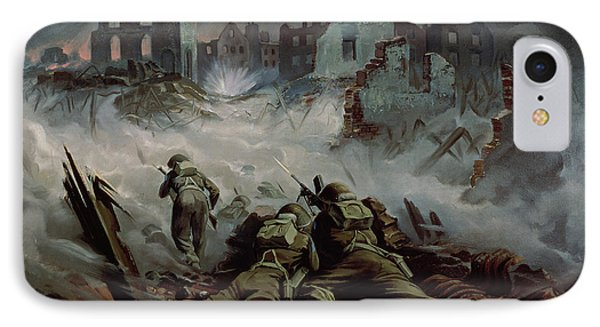 Highlanders Advancing To Caen Phone Case by Orville Norman Fisher