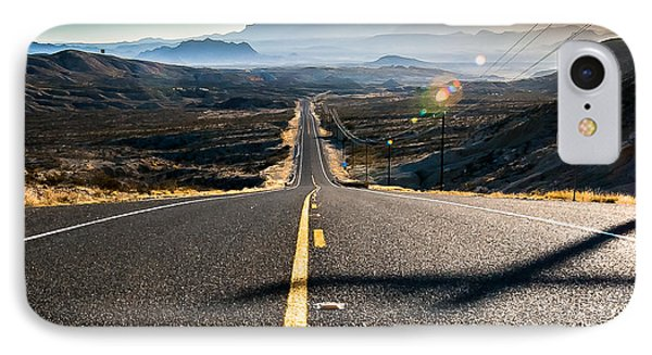 Highway 170 To Big Bend IPhone Case by Allen Biedrzycki