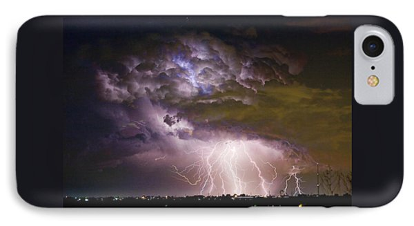 Highway 52 Storm Cell - Two And Half Minutes Lightning Strikes IPhone Case