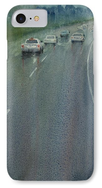 Highway On The Rain02 IPhone Case by Helal Uddin