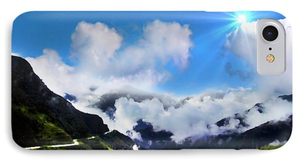 IPhone Case featuring the photograph Highway Through The Andes - Painting by Al Bourassa